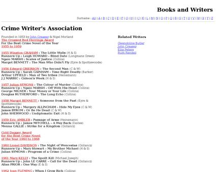 Crime writers association Patricia