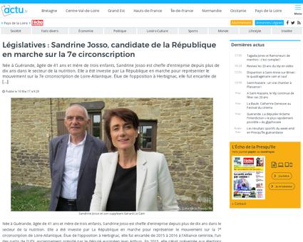 Legislatives sandrine josso candidate de Sandrine