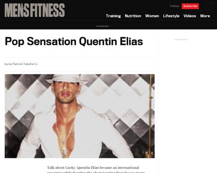 Pop sensation quentin elias Quentin