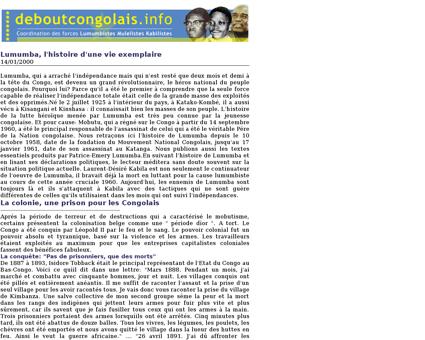 Dossier Lumumba Patrice