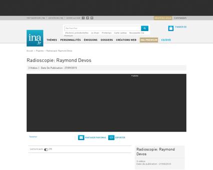 Radioscopie raymond devos playlist Raymond